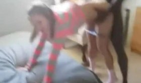 Teenage innocent babe getting slammed by ebony dude