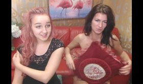 Hot teen invites her girlfriend to join her on a webcam show