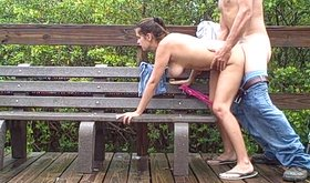Amateur girlfriend fucked hard by the lake