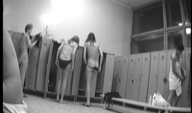 Spy cam footage showing girls undressing in a room